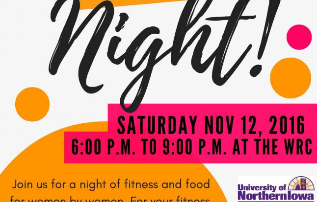 Image of flyer for Women's Fitness Night Fall 2016