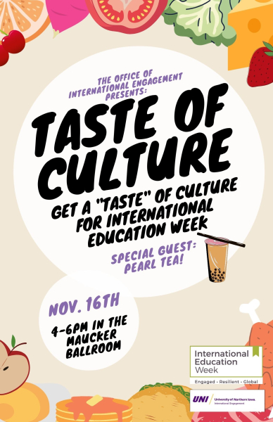 Taste of Culture Poster for IEW 2021